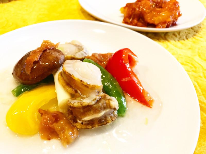 貝柱と季節野菜の炒め
